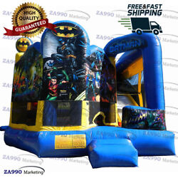16x16ft Commercial Inflatable Batman Combo Bounce House And Slide With Air Blower