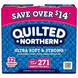 Quilted Northern Ultra Soft And Strong Toilet Paper 32 Rolls, 271 Sheets/roll