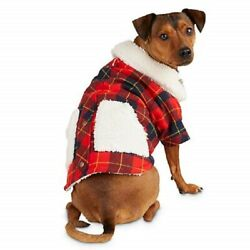 Petco Bond and Co Camp Sherpa Trimmed Plaid Jacket for Dog