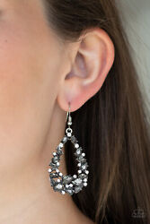 Paparazzi jewelry To Bedazzle or Not To Bedazzle Rhinestone Silver Earrings New $5.00