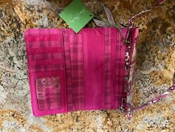 Vera Bradley Crossbody Wallet Purse Paisley Meets Plaid Pattern New With Tags $19.99