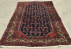 Very Fine Antique Hamadan Carpet Hand Made Wool Rug From Middle East