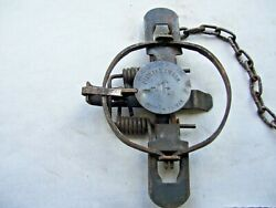 Vintage Unusual Pioneer 1 1/2 Coilspring Trap Antique Newhouse
