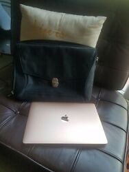 Designer Lodis Leather and Nylon laptop case