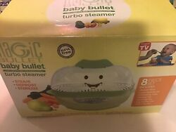 Magic Bullet Baby Bullet Turbo Food Steamer 8 Piece Set - Missing A Tray And Cup