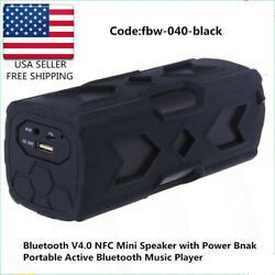 Bluetooth Mini Portable Outdoor Super Bass V4.0 Nfc Mini Speaker With Power Bank