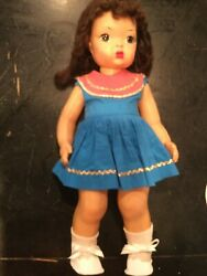 Doll Terri Lee Brunette Dotty Eyes 2 Pc. Tagged Outfit