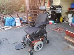 Jazzy 600es Power Wheelchair Memory Foam Black Seat And Foot Rest. Barely Used.
