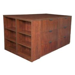 Regency Legacy Stand Up Lateral File Quad With Bookcase End- Cherry