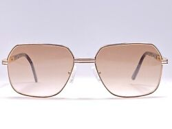 Vintage Essilor Gold And Silver Plated Medium Brown Lens Sunglasses 1980's