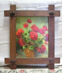 Arts And Crafts Mission Adirondack Oak Frame For 16 X 20 Picture