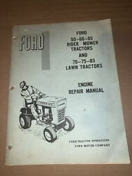 Ford 50 60 65 Rider Mower Tractors Lawn Engine Repair Manual Briggs And Stratton