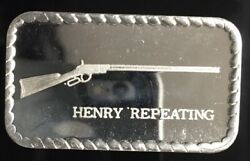 Henry Repeating Dcp-24 Rare 999 Silver Art Bar 1 Troy Oz Key Bar To Series