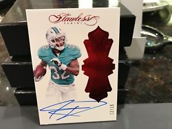 Panini Flawless Rookie On Card Autograph Dolphins Kenyan Drake 12/15 2016