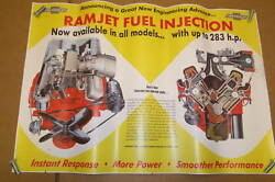 1957 Chevy Fuel Injection Poster 40x 60