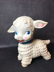 Rare Vintage - Edward Mobley 1958 Squeaky Sheep Lamb - Arrow Rubber - Figure Toy