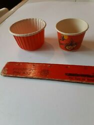 2 Rare Old Vintage Halloween Paper Candy Container Holder Nut Cup Beach Arthur