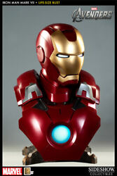 Brand New Iron Man Mark Vii Life Size Bust Sideshow Collectibles