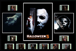 Halloween 5 1989 Replica Film Cell Presentation 10x8 Mounted 10 Cells