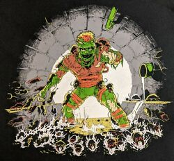 Electric Zombie Secrets of the Living Ooze Shirt Size 2XL XXL OOP TMNT Turtles