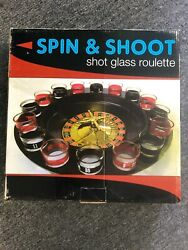 Spin And Shoot Shot Glass Roulette - Drinking Game Set New Usa Seller