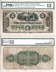 1877 5 The Bank Of Pei With Red C/c Overprint 600-12-12a. Pmg Fine 12