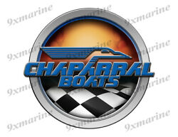 Chaparral Racing Boat Round Sticker - Name Plate