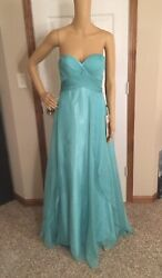 Alyce Designs B Dazzle Teal PromBridesmaid Dress Sz 0