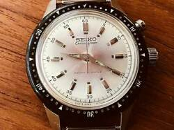 Seiko Crown Chronograph Cal.5719a Vintage Manual Winding Mens Watch Auth Works