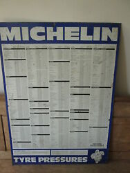 Michelin Tyre Pressure Sign.goodyear. Dunlop.vintage Sign.tyre Sign