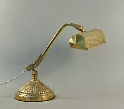 Monix Signed French Art Deco Table Lamp In Gilt Bronze 1930 ........ Piano Lamp