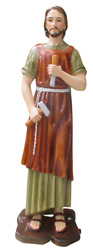 Saint Joseph The Worker 31 Inch Large Colored Resin Statue