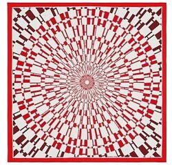 Hermes Shawl Scarf Stole Op'h Cashmere Silk Red Woman Auth New 140 Cm Nwt