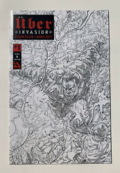 Uber Invasion 1 B Wraparound Sketch Cover Limited To Only 100 Nm+ Free Ship