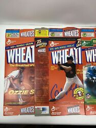 Wheaties Lot Of 32 Boxes Opened Flat Cereal Box Vintage Jordan Clemente Gehrig