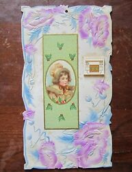 Beautiful 1914 Embossed And Diecut Calendar Gift No Advertising Christmas