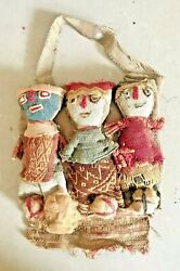 Pre Columbian Textile Peruvian Burial Doll Chancay Culture Purchased In 1972