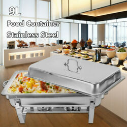 9L Chafing Dish Food Warmer Container Warming Stainless Steel For Hotel Buffet