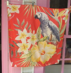 African Grey Parrot Square Scarf Suitable For Framing