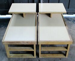 Mid-century Modern Pair Of Dunbar Alfred Wormly Step Tables