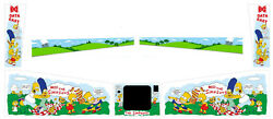 Complete Cabinet Decal For The Simpsons De Pinball Side Blades Target Decals Set