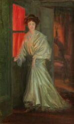 Henry Bouvet French Oil Painting Oil Portrait Woman Interior Napoleon Iii 1900
