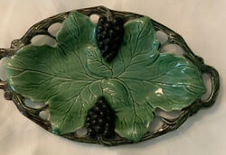 Jay Willfred Division Of Andrea By Sadek Grapes And Leaves Portugal Ceramic Tray