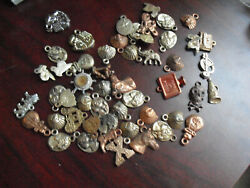 Lot Of 51 Vintage 1950s Plastic Premiums Pendants And Charms