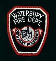 Waterbury Connecticut Fire Department 3 X 3.5 Embroidered Patch
