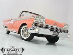 1959 Ford Galaxie  1959 Ford Galaxie Sunliner  641 Miles Geranium Red  332 cubic inch V8 3-speed au