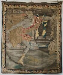 17th c French 7' Tapestry of Greek Mythology's Hippomenes' Courtship of Atalanta