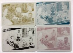 Star Trek Tos Captain's Collection Printing Plates Card 18 Set, Shore Leave