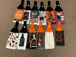 HALLOWEEN THEMED CROCHET HANGING KITCHEN TOWELS NEW YOU CHOOSE $7.99