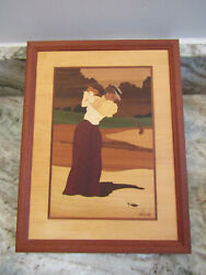 Hudson River Inlay Picture - Dressed To The Tee - Wood Marquetry By Nelson 10x13
